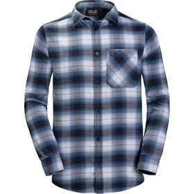 Jack Wolfskin Light Valley Langærmet T-shirt Herrer blå/hvid